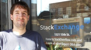 Shane Madden at the Denver StackExchange office